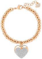 Swarovski Crystal Heart Charm Bracelet