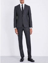 Armani Collezioni Jacquard slim-fit wool and silk-blend suit