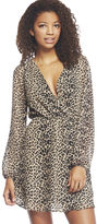 Arden B Leopard Print Surplus Chiffon Dress