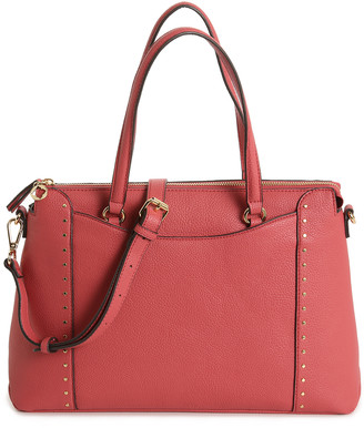 Kelly & Katie Women's Viana Satchel Faux Leather In Color: Black Bag From Sole Society