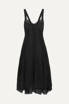 Charo Ruiz Ibiza Heart Crocheted Lace-paneled Cotton-blend Voile Maxi Dress - Black