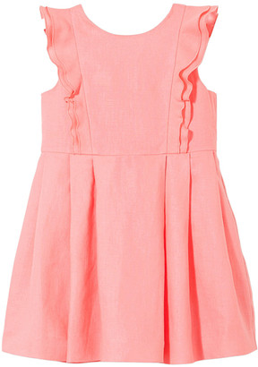 Jacadi Paris Lovely Ruffle Linen-Blend Dress