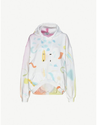 Collina Strada Tie dye-print cotton-blend jersey hoody