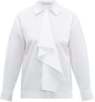 J.W.Anderson Draped Cotton-poplin Shirt - White