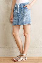 Anthropologie Cloth & Stone Arrowhead Chambray Skirt