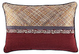 Veratex Sierra Ribbon-Trimmed Jacquard & Faux-Linen Breakfast Pillow