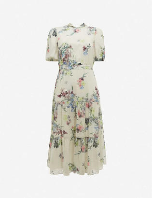 Ted Baker Grove floral-print crepe midi dress