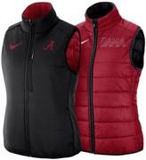 Nike Women's Crimson/Black Alabama Crimson Tide Shield Puffer Reversible Full-Zip Vest