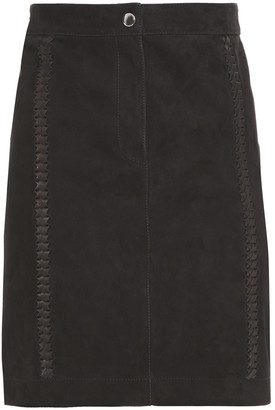 7 For All Mankind Braided Suede Mini Skirt