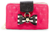 Betsey Johnson Diamond Quilt Faux Leather Wallet