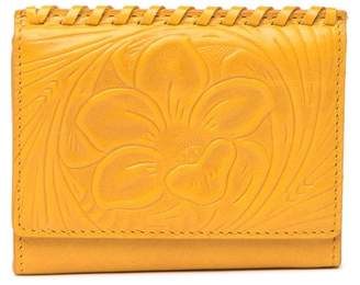 Hobo Stitch Leather Embossed Bifold Wallet