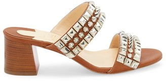 Christian Louboutin Tina Goes Mad Studded Leather Mules