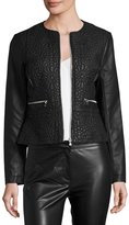 French Connection Medina Stitch Faux-Leather Jacket, Black