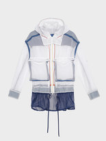 DKNY Runway Hooded Zip Through Mesh Jacket