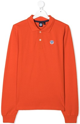 North Sails Kids TEEN long sleeve cotton polo shirt
