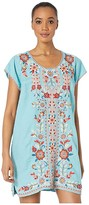 Johnny Was Maisie Peasant Tunic Dress (Light Teal) Women's Clothing