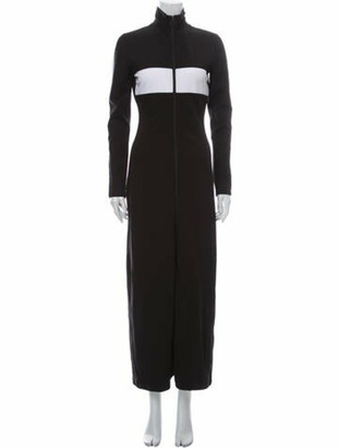 FENTY PUMA by Rihanna Colorblock Pattern Long Dress Black