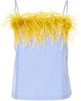 Le Ciel Bleu feather trim camisole top