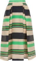Whistles Miriam Stripe Midi Skirt