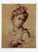 Michelangelo 1art1 Posters Buonarroti Poster Art Print - Head Of Cleopatra (20 x 14 inches)