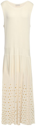 By Malene Birger Laser-cut Knitted Maxi Dress