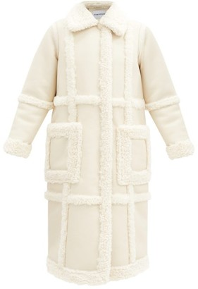 Stand Studio Patrice Panelled Faux-shearling Coat - Ivory
