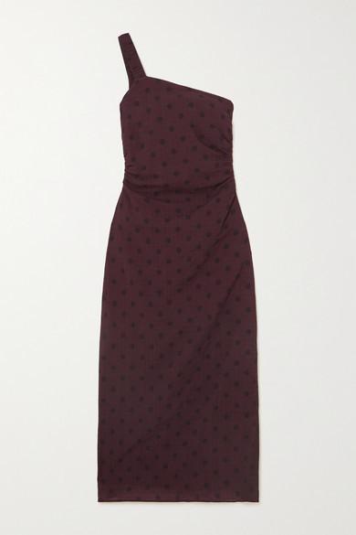 Peony Swimwear + Net Sustain Polka-dot Organic Cotton-blend Midi Dress - Brown