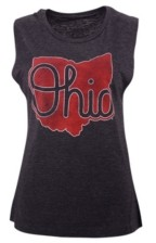 Top of the World Women's Ohio State Buckeyes Muscle Tank