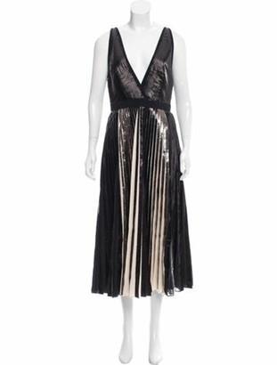 Proenza Schouler Plisse Midi Dress w/ Tags Black