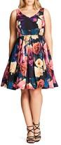 City Chic Secret Garden Dress