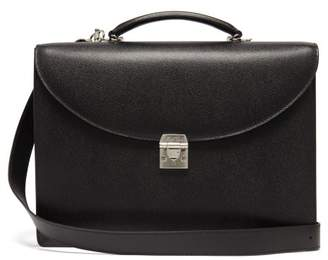 Mark Cross Maddox Saffiano Leather Briefcase - Mens - Black
