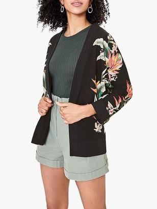 Oasis Tropical Print Kimono, Multi