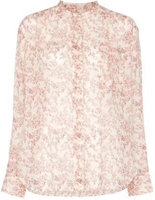 Etoile Isabel Marant Button-Up Floral Blouse