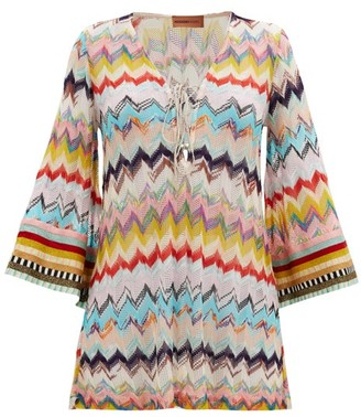 Missoni Mare Lace-up Zizag-knitted Cover Up - Multi