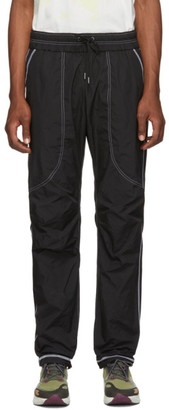 John Elliott Black High Shrunk Nylon Trenton Lounge Pants