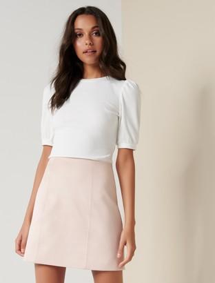 Ever New Scarlette Seamed Suedette Mini Skirt