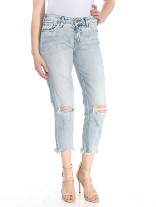 Silver Jeans Co. Women's Aiko Fit Mid-Rise Slim Crop Jeans