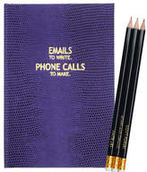 Sloane Stationery Emails & Phone Calls Journal and Pencil Set