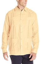 Cubavera Men's Long-Sleeve 100% Linen Guayabera