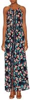 Ella Moss Floral Print Lace Inset Maxi Dress