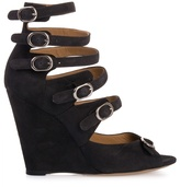 CHLOÉ - Black suede wedge heel shoe