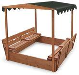 Badger Basket Covered Convertible Cedar Sandbox with Canopy