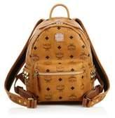 MCM Stark Side Stud Mini Coated Canvas Backpack