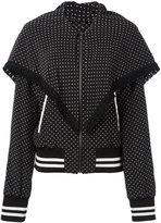 Dolce & Gabbana polka-dot fringed bomber jacket - women - Silk - 40