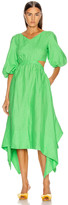 Nicholas Karen Dress in Leaf   FWRD