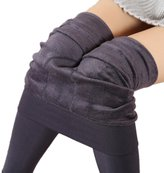 Emoyi Women Winter Warm Velvet Stretchy Leggings Pants Tights
