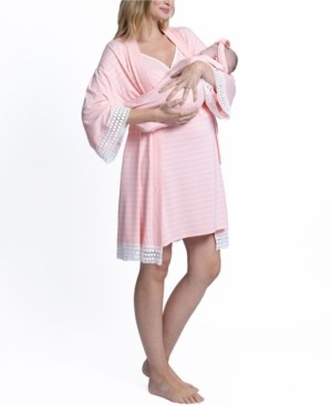 Blooming Women by Angel 4 Piece Robe and Matching Baby Set