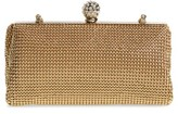 Whiting & Davis 'Crystal' Mesh Clutch - Metallic