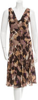 Diane von Furstenberg Silk Cowl Neck Dress