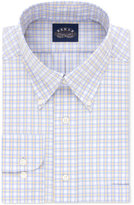 Eagle Men's Classic/Regular Fit Non-Iron Flex Collar Yellow Check Dress Shirt